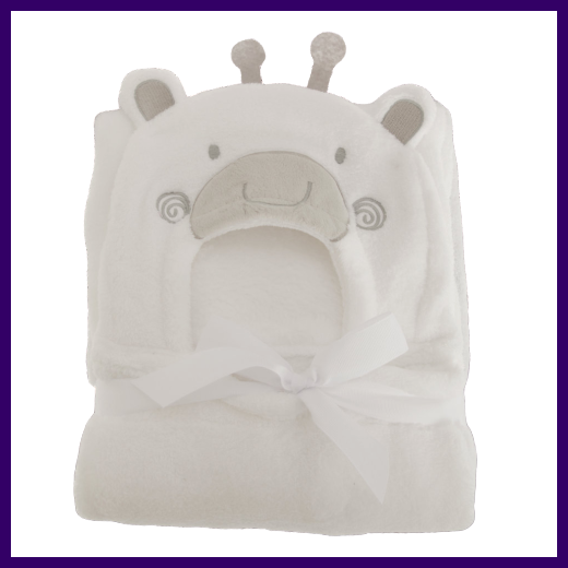 Snuggle Baby Giraffe Baby Wrap and Towel in Grey