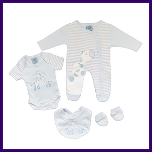 Teeny Tiny Boys Giraffe Friends 4 Piece Gift Set
