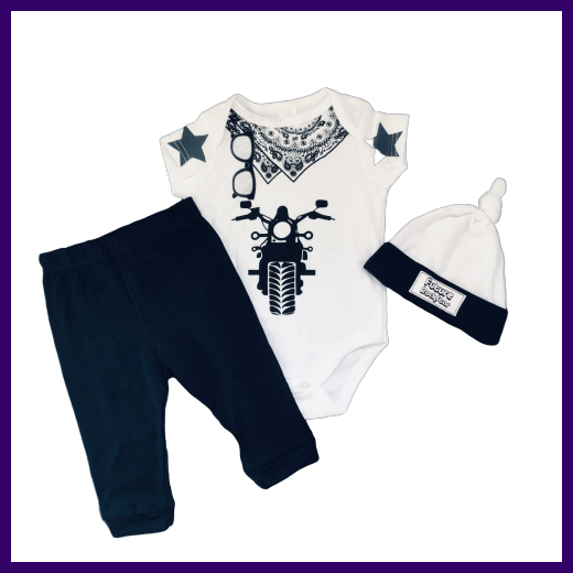 Soft Touch Boys Future Rockstar White Bodysuit & Trousers Outfit