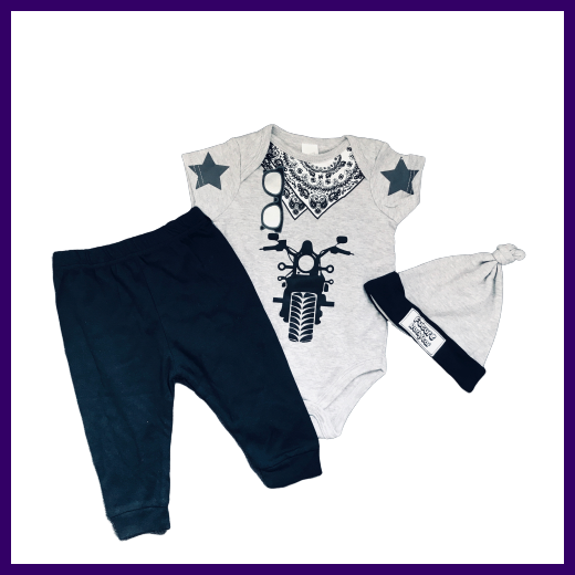 Soft Touch Boys Future Rockstar Grey Bodysuit & Trousers Outfit