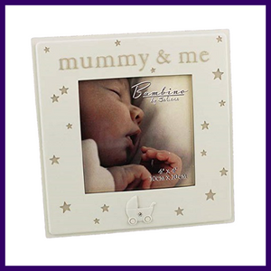 Bambino Mummy & Me 4 x 4 inch Resin Photo Frame