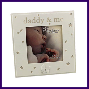 Bambino Daddy & Me 4 x 4 inch Resin Photo Frame