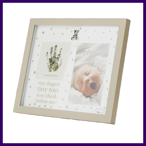 Bambino Hand Print and Photo Frame with Ink Pad
