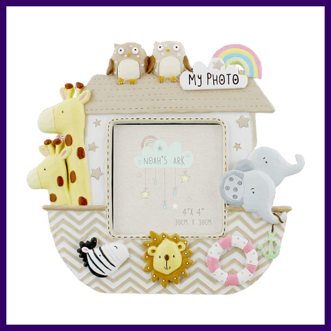 Celebrations Noah's Ark Baby 3 x 3 inch Photo Frame
