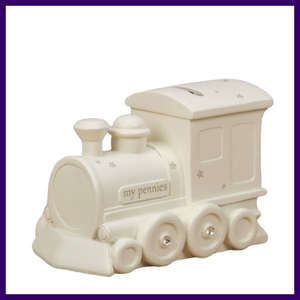 Bambino Baby Resin Train Money Box