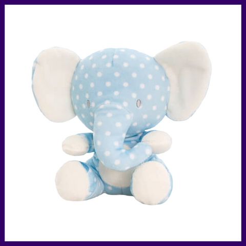 Keel Toys Baby Spotty Wild Blue Elephant Soft Toy