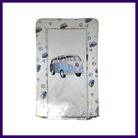 VW Camper Van Baby Changing Mat in Blue