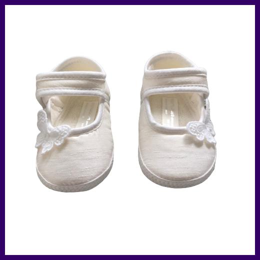 Earlydays Girls Ivory Butterfly Shoes