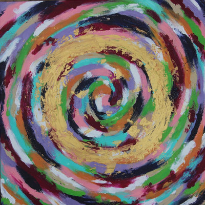 Circles Oil Painting