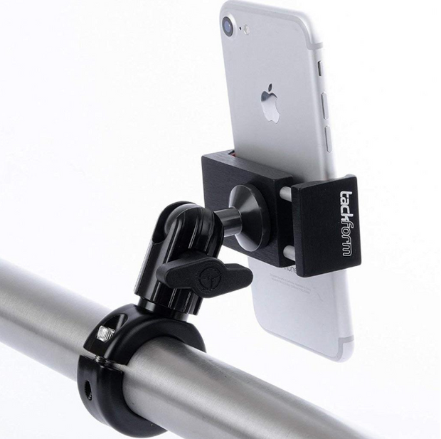MOTORCYCLE PHONE MOUNT | SPRING LOADED PHONE HOLDER | ALL METAL DESIGN