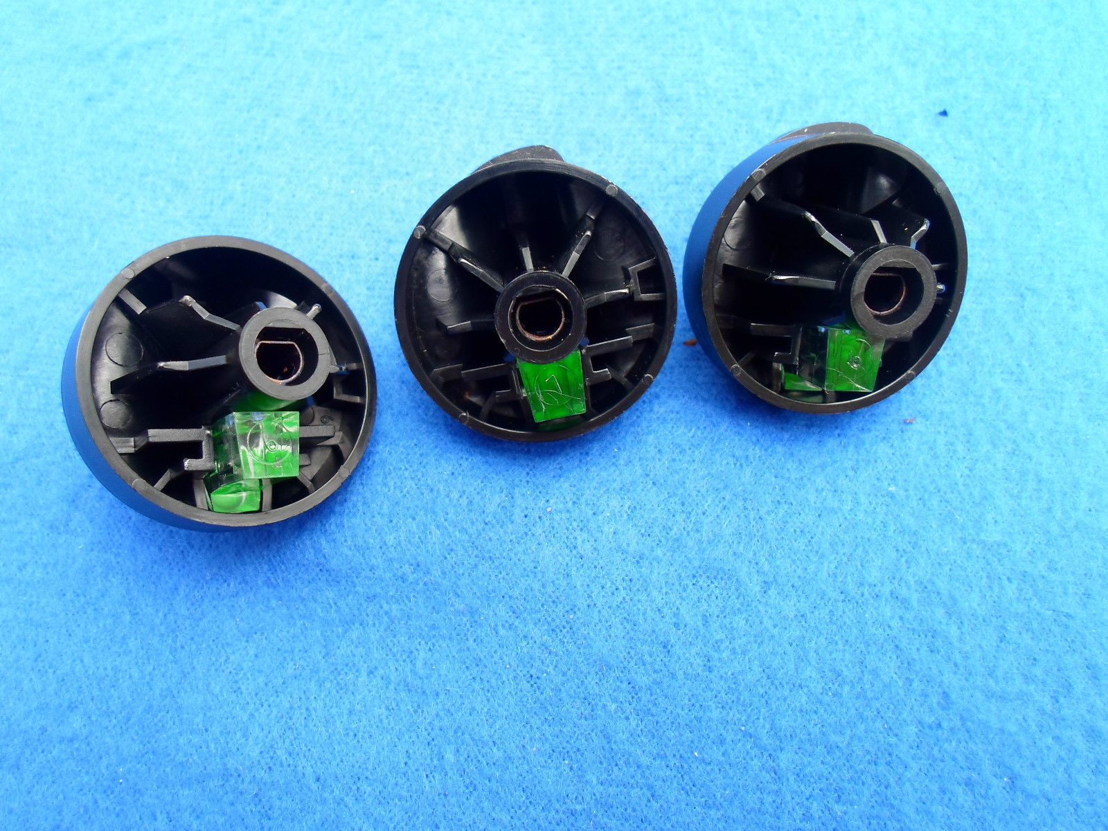 1997 - 2003 FORD F150 EXPEDITION CLIMATE CONTROL 3 KNOB SET GREEN LENS FREE SHIP