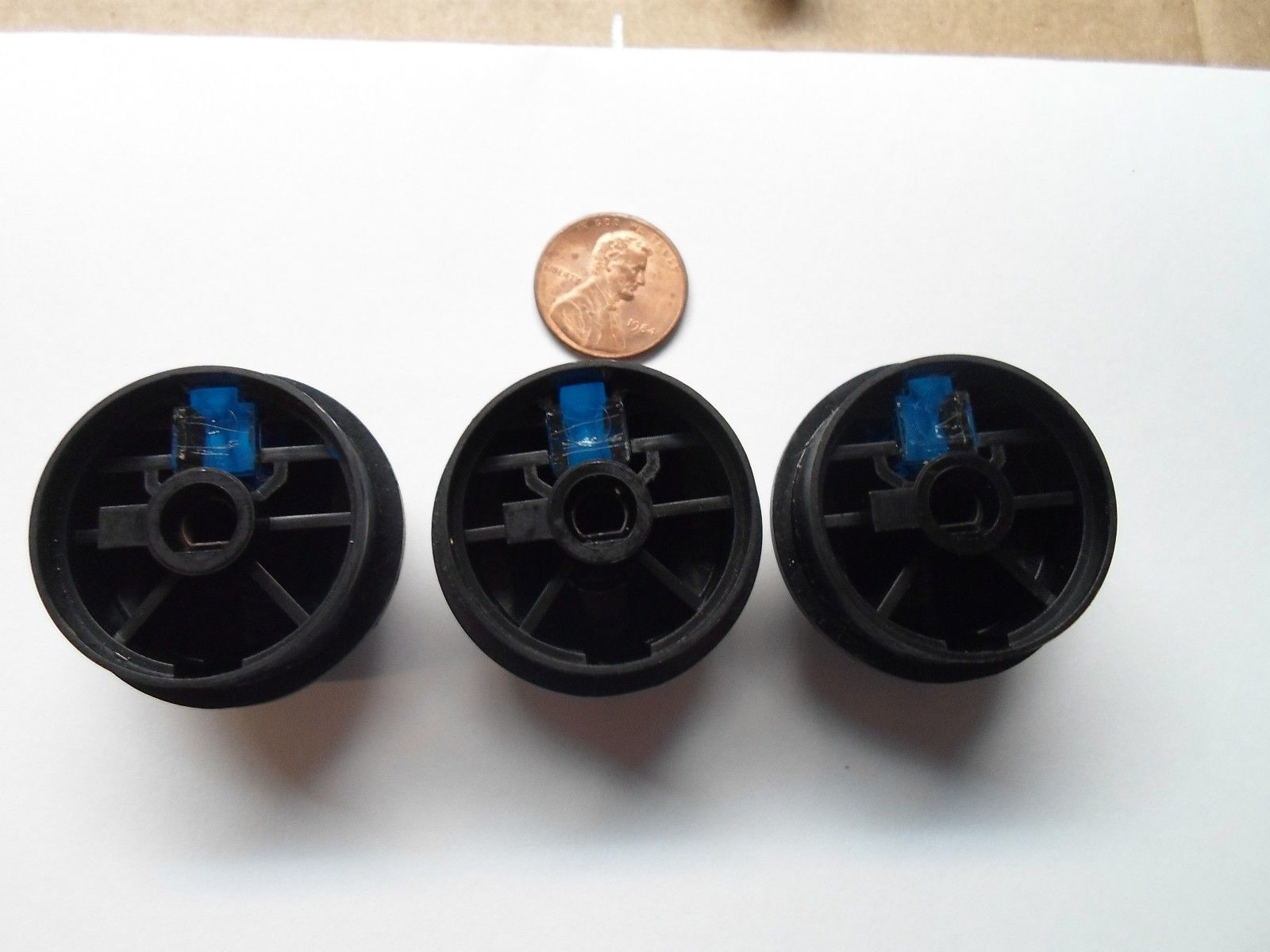 GRAND MARQUIS CROWN VICTORIA BLUE ILLUM CLIMATE CONTROL KNOB SET OEM! FREE SHIP