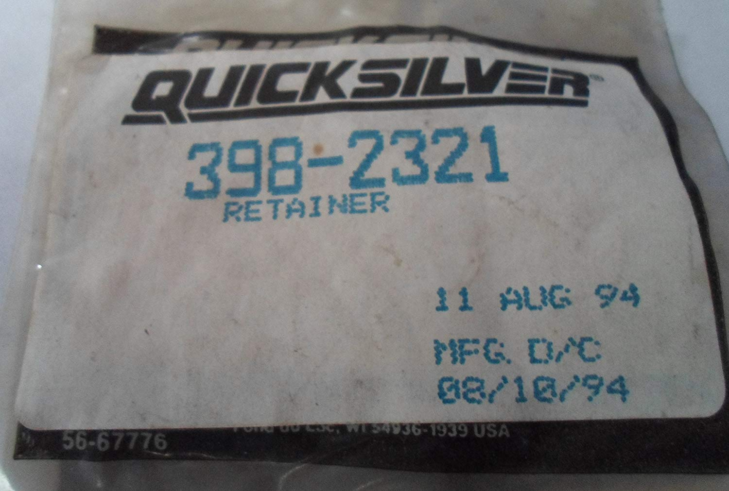 Quicksilver / Mercury 398-2321 Retainer