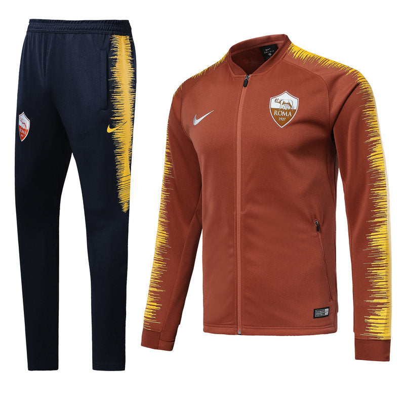 finest selection 91cc0 6ad83 A.S. Roma Nike Full-Zipper Tracksuit Brick  Yellow