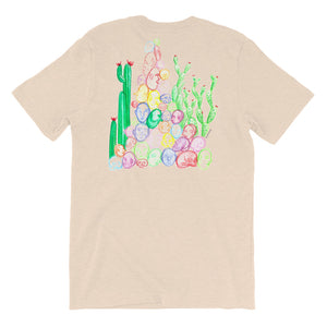 """ Tête De Cactus "" Front And Back Print Short-Sleeve Unisex T-Shirt"