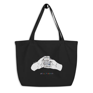 """ Adulthood "" Large organic tote bag"
