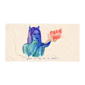 """ Magic Fuck You ""  Towel"