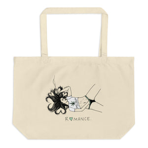 """ Romance / Smoke Weed And Masturbate ""  Large organic tote bag"