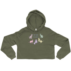 """ My Pussy My Choice "" Crop Hoodie"
