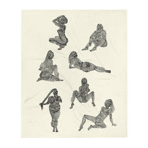 """ 7 Deadly sins "" Black Ink, Throw Blanket"