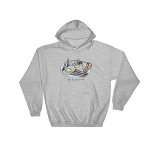 """ Eggs, Bacon & Potat-Hoes "" Hooded Sweatshirt"