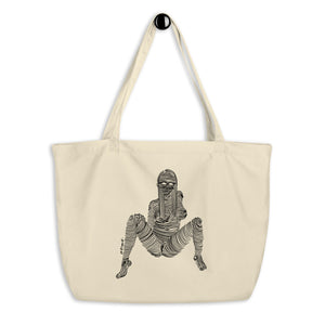 """ 1/7 Deadly sins "" Front Print, Black ink Large organic tote bag"
