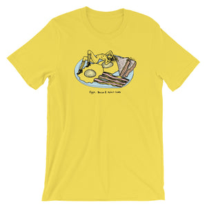 """ Eggs, Bacon And Potat-Hoes "" Short-Sleeve Unisex T-Shirt"
