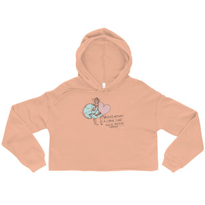 """ Strong Mind Fragile Heart "" Crop Hoodie"