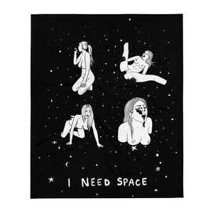 """ I Need Space "" Throw Blanket"
