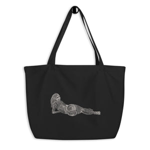 """ 3/7 Deadly sins "" Front Print dark Large organic tote bag"