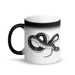 """ Inverted Medusa "" Matte Black Magic Mug"