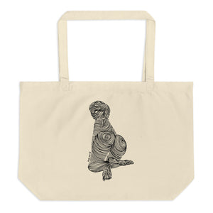 """ 7 Deadly Sins + 2 ""  Black Ink Large organic tote bag"