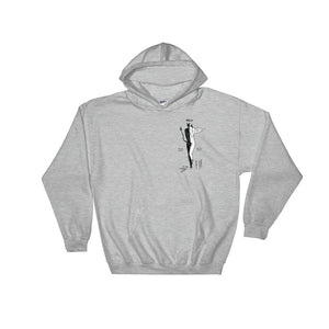 """ 50/50, Angel/Demon "" Back Print, Hooded Sweatshirt"