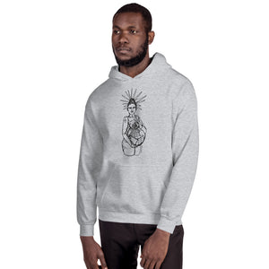 """ Our World x Empowers "" Front and Back Print Hooded Sweatshirt"
