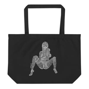 """ 1/7 Deadly sins "" Front Print, White Ink.  Large organic tote bag"