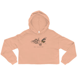 """ Good Morning Baby ""  Fleece Crop Hoodie"