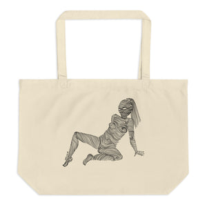 """ 6/7 Deadly sins "" Front and back Print Large organic tote bag"