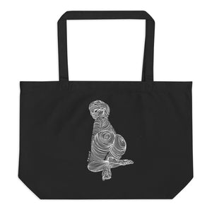 """ 7 Deadly Sins + 2 ""  White Ink Large organic tote bag"