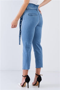 Tootsie Light Denim High Waisted Tapered Jeans