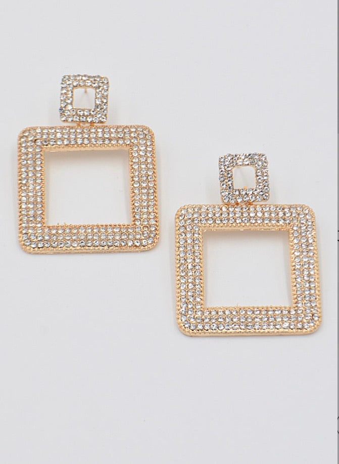 Square B Square Earrings