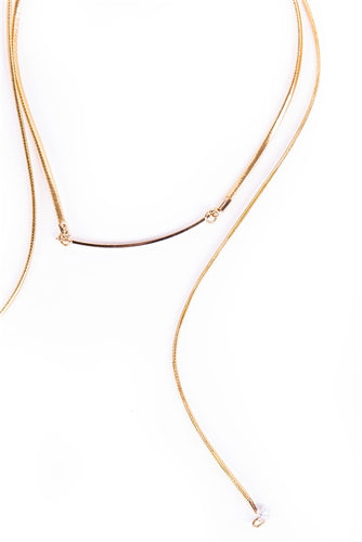 Gold Wrap Around Choker Necklace