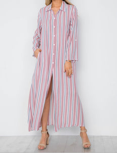 Candi Button Down Maxi Dress