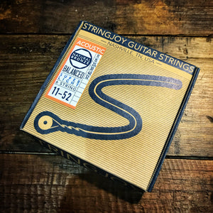 Stringjoy - Natural Bronze™ Phosphor Acoustic Guitar Strings Super Light (11-52)