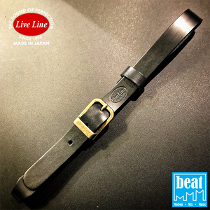 Live Line - Acoustic Guitar Strap Leather Connector - Black [LGSC14BLK]