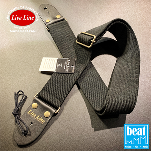 Live Line - 50mm width Acrylic and cotton blend Straps - Black [LS2000CBK]