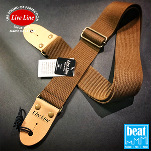 Live Line - 50mm width Acrylic and cotton blend Straps - Brown [LS2000CBRN]