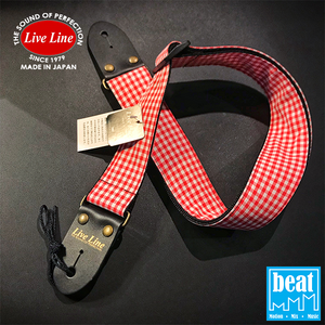 Live Line - LS2000 Series Guitar Straps - Check/Red & White [LS2000CK7]