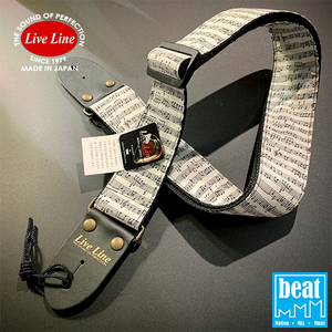 Live Line - LS2000 Series Guitar Straps - Staves and Tablature [LS2000GF]