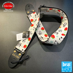 Live Line - LS2000 Series Guitar Straps - Pandas & Strawberries [LS2000PND4]