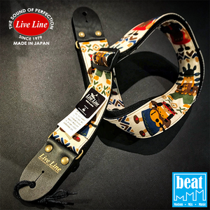 Live Line - LS2000 Series Guitar Straps - Boys & Girls/White [LS2000WH]